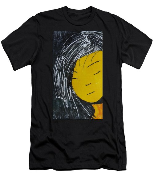 Chinese Japanese Girl Men's T-Shirt (Athletic Fit)