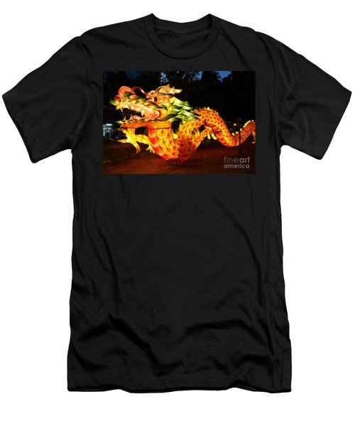 Men's T-Shirt (Slim Fit) featuring the photograph Chinese Lantern In The Shape Of A Dragon by Yali Shi