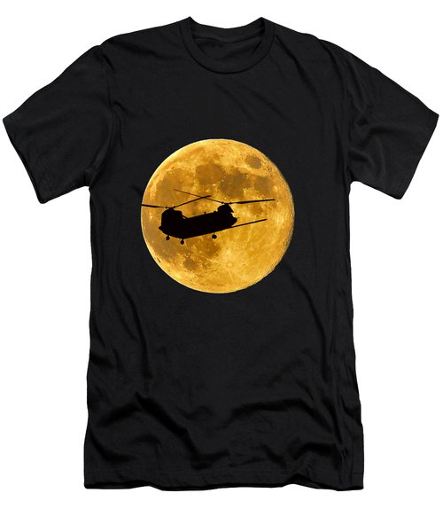 Chinook Moon Color .png Men's T-Shirt (Slim Fit) by Al Powell Photography USA