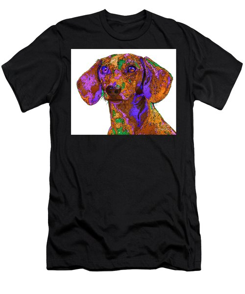 Chloe. Pet Series Men's T-Shirt (Athletic Fit)