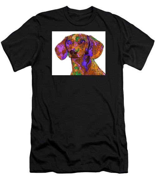Chloe. Pet Series Men's T-Shirt (Athletic Fit)