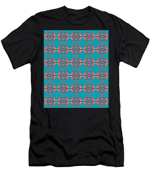 Chock A Block Dark Turquoise Men's T-Shirt (Athletic Fit)