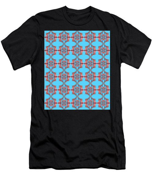 Chock A Block Light Turquoise Men's T-Shirt (Athletic Fit)