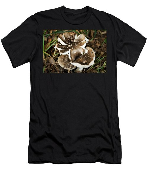 Men's T-Shirt (Athletic Fit) featuring the photograph Chocolate Covered Marshmallow Mushrooms by Sheila Brown