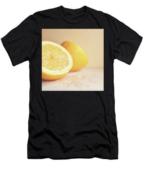 Chopped Lemon Men's T-Shirt (Athletic Fit)
