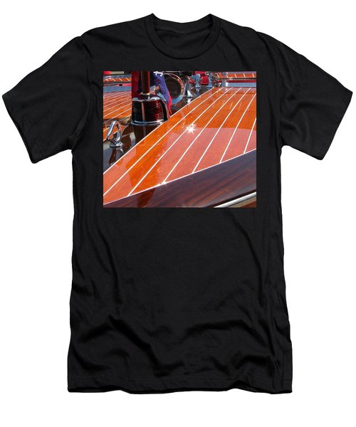Men's T-Shirt (Athletic Fit) featuring the photograph Chris Craft Bow by Michelle Calkins