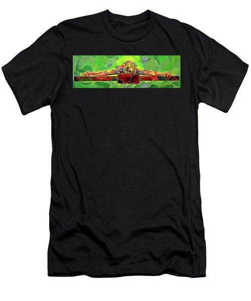 Christ In Stained Glass Men's T-Shirt (Athletic Fit)