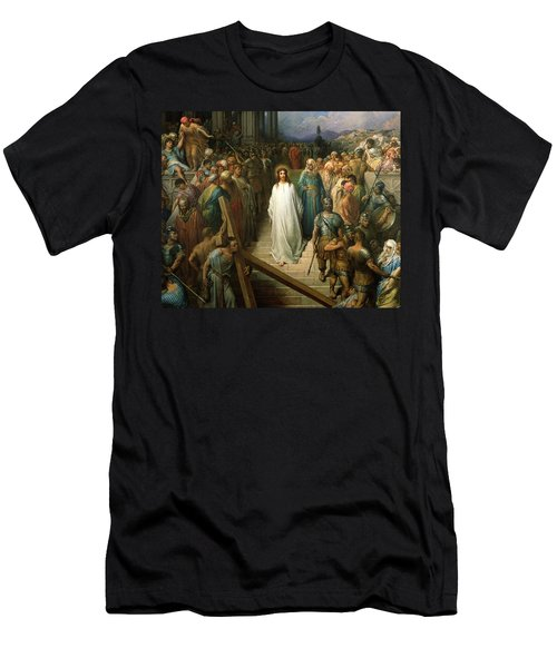 Christ Leaves His Trial Men's T-Shirt (Athletic Fit)