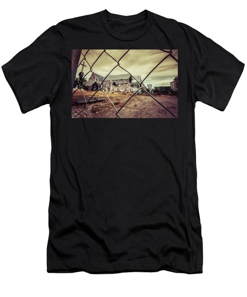 Men's T-Shirt (Athletic Fit) featuring the photograph Christchurch Cathedral by Chris Cousins
