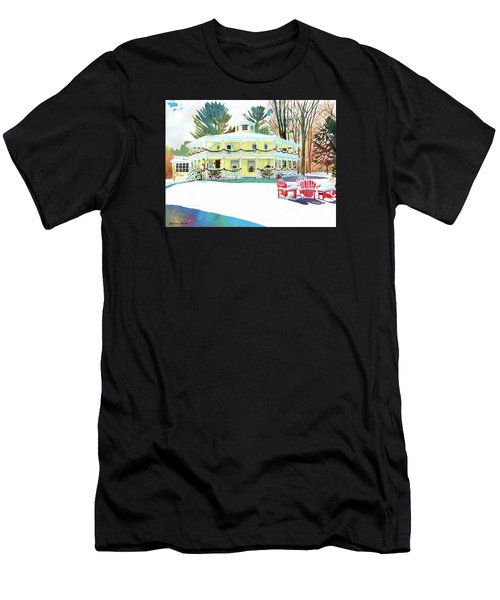 Christmas At The Hexagon House Men's T-Shirt (Athletic Fit)
