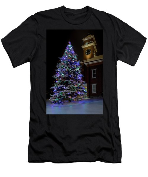 Christmas At Town Hall Men's T-Shirt (Athletic Fit)