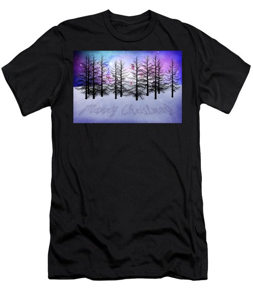 Christmas Bare Trees Men's T-Shirt (Athletic Fit)