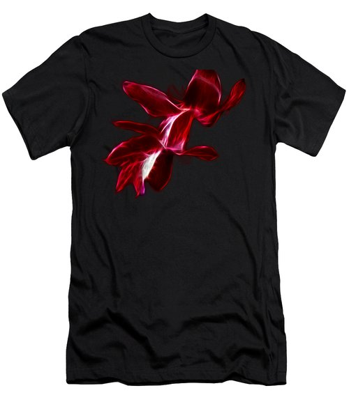 Christmas Cactus Flower Men's T-Shirt (Athletic Fit)