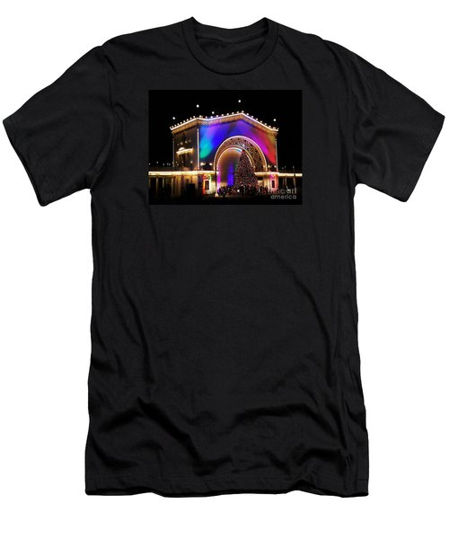Christmas Celebration In San Diego  Men's T-Shirt (Slim Fit) by Jasna Gopic