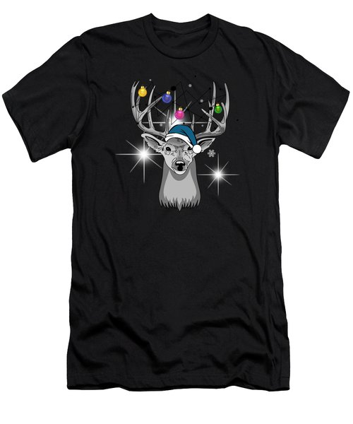 Christmas Deer Men's T-Shirt (Athletic Fit)