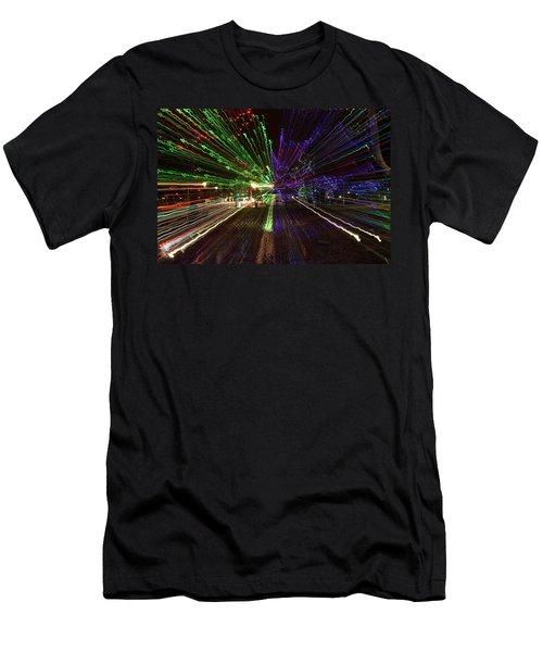 Christmas Exploding Men's T-Shirt (Athletic Fit)