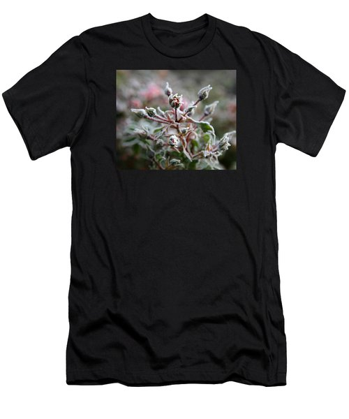 Men's T-Shirt (Slim Fit) featuring the photograph Christmas Miniature Rosebuds by Katie Wing Vigil
