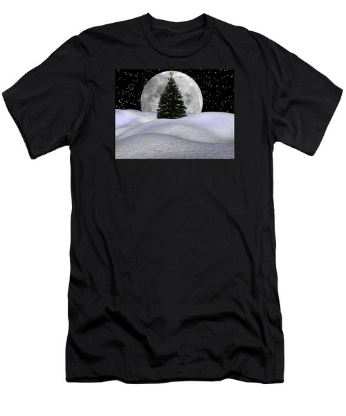 Christmas Moon Men's T-Shirt (Slim Fit) by Michele Wilson