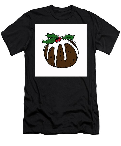 Christmas Pudding Men's T-Shirt (Athletic Fit)