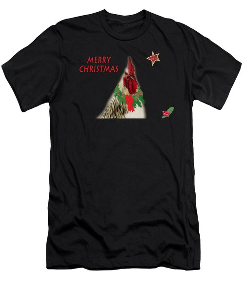 Christmas Rooster Tee-shirt Men's T-Shirt (Athletic Fit)
