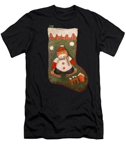 Christmas Stocking Men's T-Shirt (Athletic Fit)