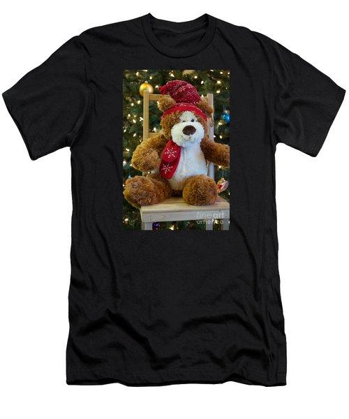 Christmas Teddy Bear Men's T-Shirt (Athletic Fit)