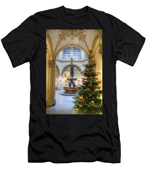 Christmas Tree In Ferstel Passage Vienna Men's T-Shirt (Athletic Fit)