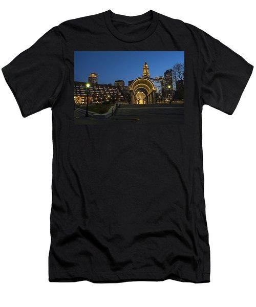 Christopher Columbus Park Boston Ma Trellis Custom House Men's T-Shirt (Athletic Fit)