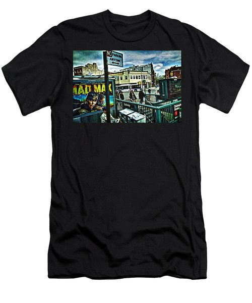 Christopher Street Greenwich Village  Men's T-Shirt (Athletic Fit)
