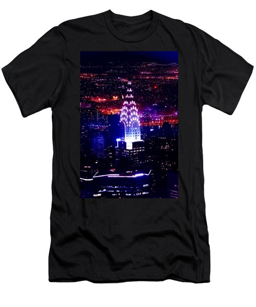Chrysler Building At Night Men's T-Shirt (Slim Fit) by Az Jackson