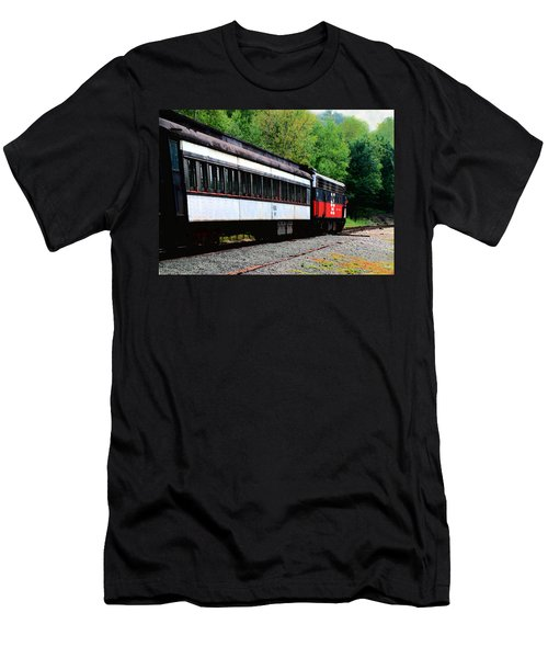 Men's T-Shirt (Slim Fit) featuring the photograph Chugging Along by RC DeWinter