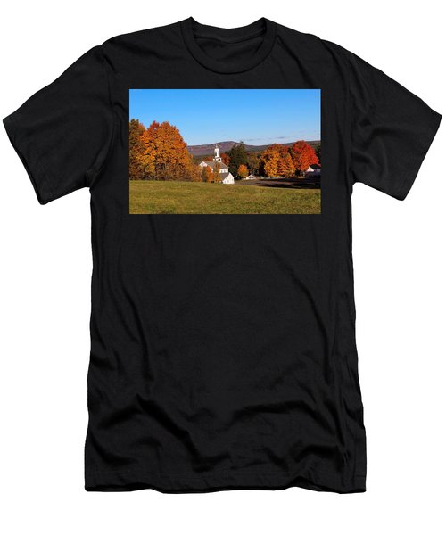 Church And Mountain Men's T-Shirt (Athletic Fit)