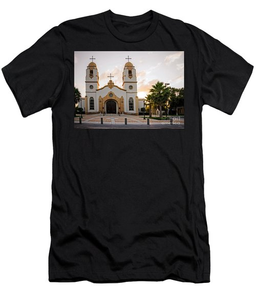 Church At Sunset Men's T-Shirt (Athletic Fit)