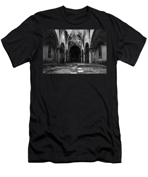 Church In Black And White Men's T-Shirt (Athletic Fit)