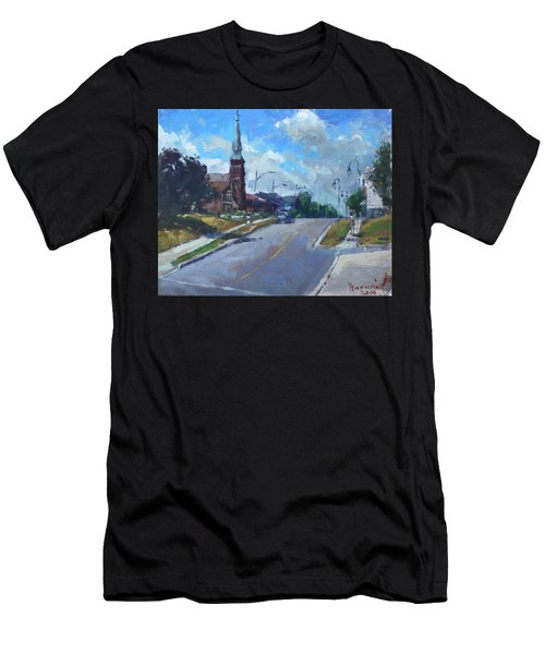 Church In Georgetown Downtown  Men's T-Shirt (Athletic Fit)