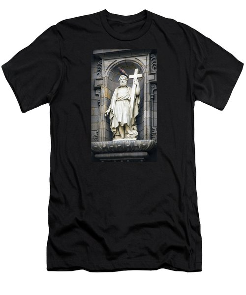 Church In Lima With Cross Men's T-Shirt (Athletic Fit)