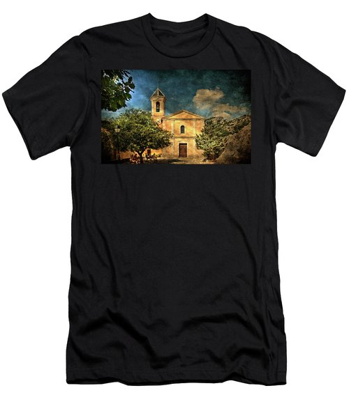 Church In Peillon Men's T-Shirt (Athletic Fit)