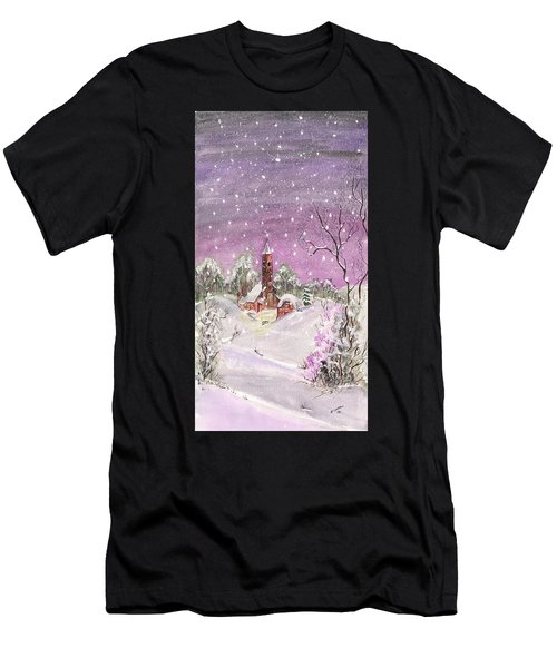 Church In The Snow Men's T-Shirt (Athletic Fit)