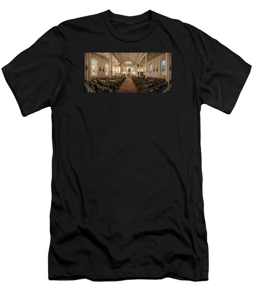 Church Of The Assumption Of The Blessed Virgin Pano Men's T-Shirt (Slim Fit) by Andy Crawford