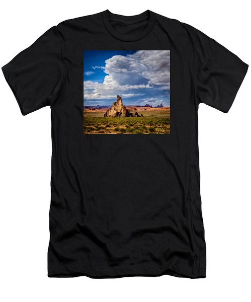 Men's T-Shirt (Athletic Fit) featuring the photograph Church Rock Thunderhead by Rikk Flohr