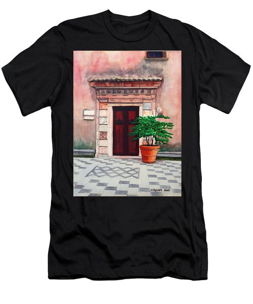Church Side Door - Taormina Sicily Men's T-Shirt (Athletic Fit)