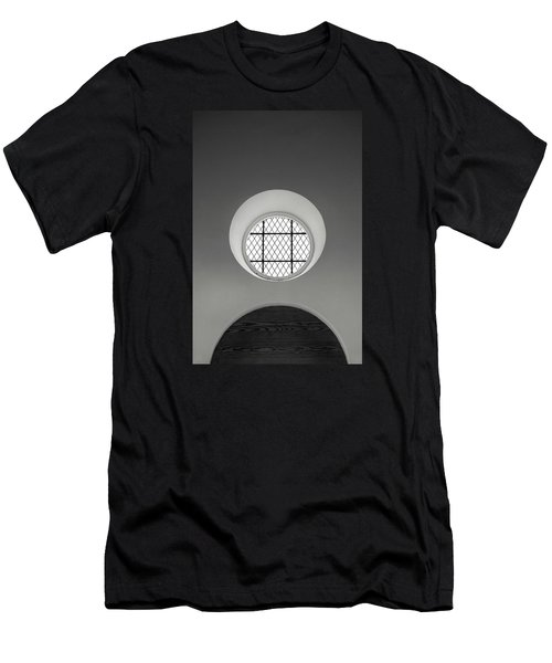 Church Window In Black And White Men's T-Shirt (Athletic Fit)