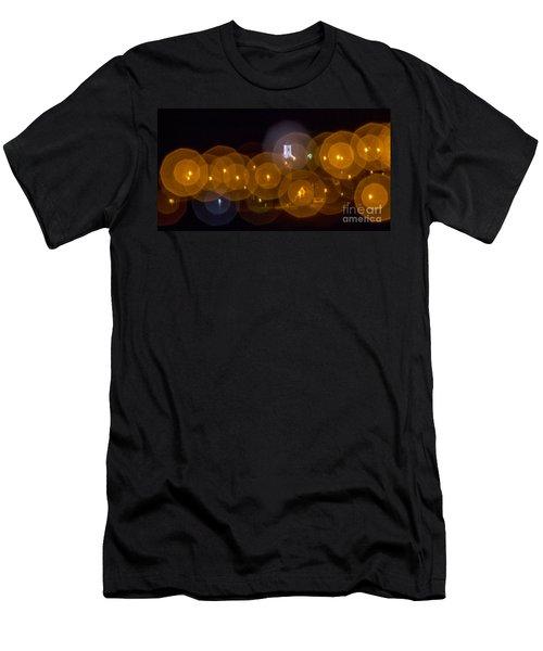 Church With Circle Bokeh Men's T-Shirt (Athletic Fit)