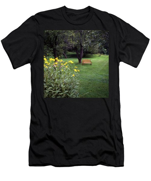 Churchyard Bench - Woodstock, Vermont Men's T-Shirt (Athletic Fit)