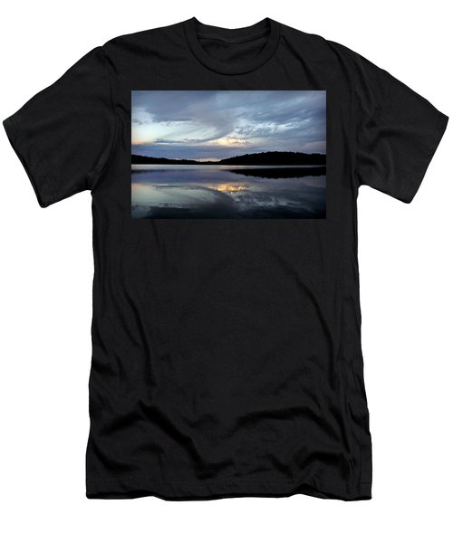 Men's T-Shirt (Slim Fit) featuring the photograph Churning Clouds At Sunrise by Chris Berry