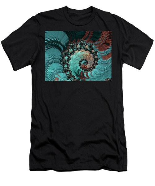 Men's T-Shirt (Slim Fit) featuring the digital art Churning Sea Fractal by Bonnie Bruno