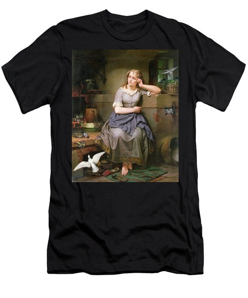 Cinderella And The Birds Men's T-Shirt (Athletic Fit)