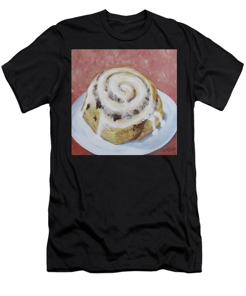 Men's T-Shirt (Athletic Fit) featuring the painting Cinnamon Roll by Nancy Nale