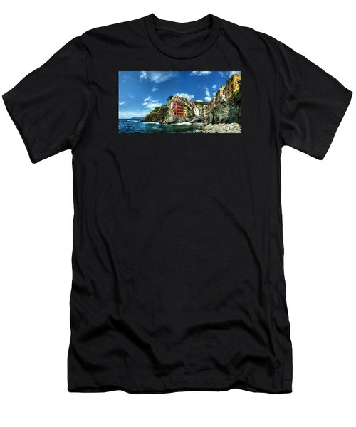 Cinque Terre - View Of Riomaggiore Men's T-Shirt (Athletic Fit)