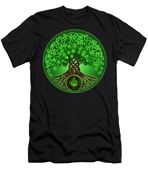 Circle Celtic Tree Of Life Men's T-Shirt (Athletic Fit)